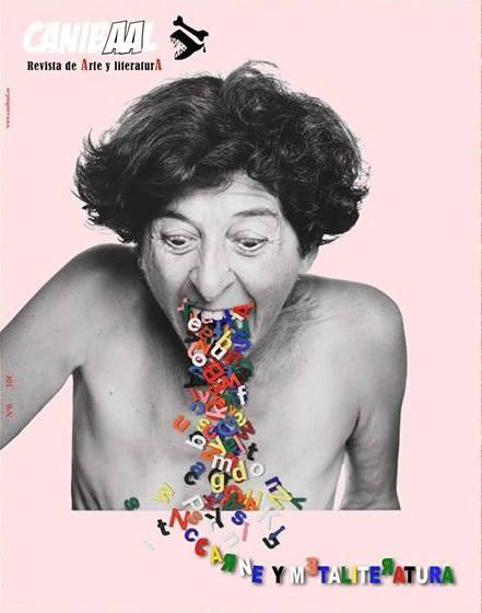 Portada del número 6 de la Revista Canibaal, 'Carne y Metaliteratura'. Fotografía cortesía de la revista.