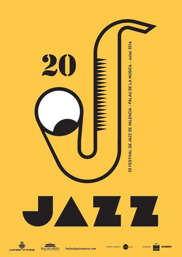 Cartel de Dani Nebot. Imagen cortesía del Festival de Jazz de Valencia.