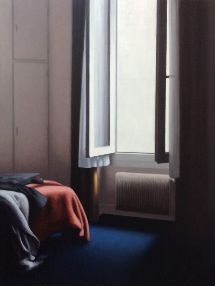 Panorámica para Lucian Freud sin Blanco de Cremnitz, de Gonzalo Sicre. Imagen cortesía de My Name's Lolita Art.