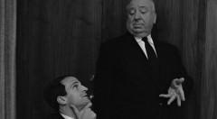 Alfred Hitchcock y François Truffaut. Imagen cortesía de la Filmoteca de Valencia.