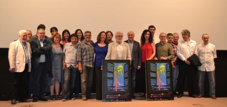 Foto de equipo de Mostra Viva del Mediterrani 2016, en la Sala Berlanga de la Filmoteca de Valencia. Imagen cortesía de la organización.
