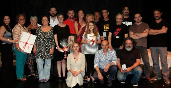 Todos los galardonados con los Premios del Público de Sala Russafa. Imagen cortesía de Sala Russafa.