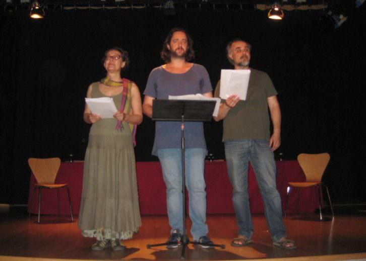 Teatro de la Resistencia en el acto de presentación de Primer acto. Imagen cortesía de sus autores.