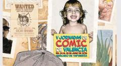 Cartel de las V Jornadas de Cómic de Valencia.