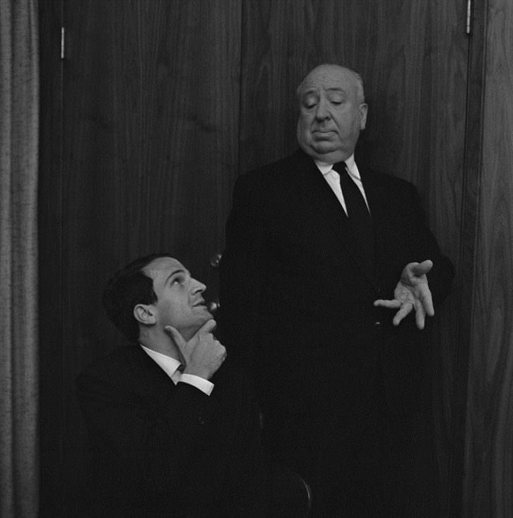 Alfred Hitchcock y François Truffaut. Foto de Philippe Halsman cortesía de Cohen Media Group por la Filmoteca de Valencia.