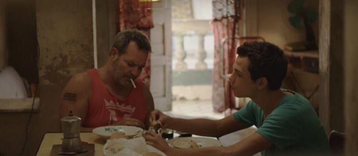 Jorge Perugorría y Héctor Medina en un instante de VIVA, de Paddy Breathnach. Fotografía cortesía de Cinema Jove.
