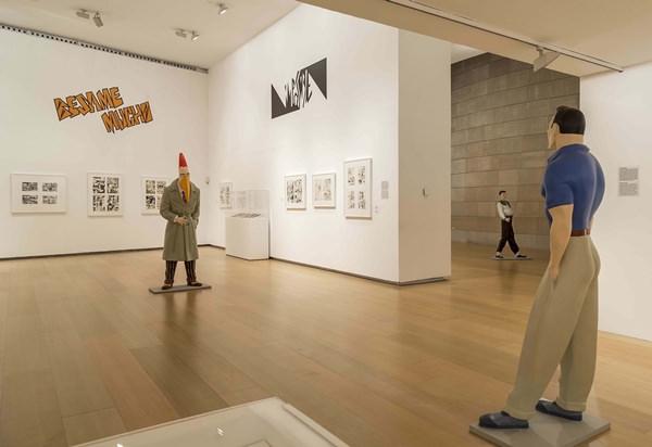 Vista general de la exposición Valencia Línea Clara. Imagen cortesía del IVAM.