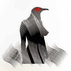 Imagen de la obra 'Mujer pájaro', de Carlos Amorales. Fotografía cortesía del museo.