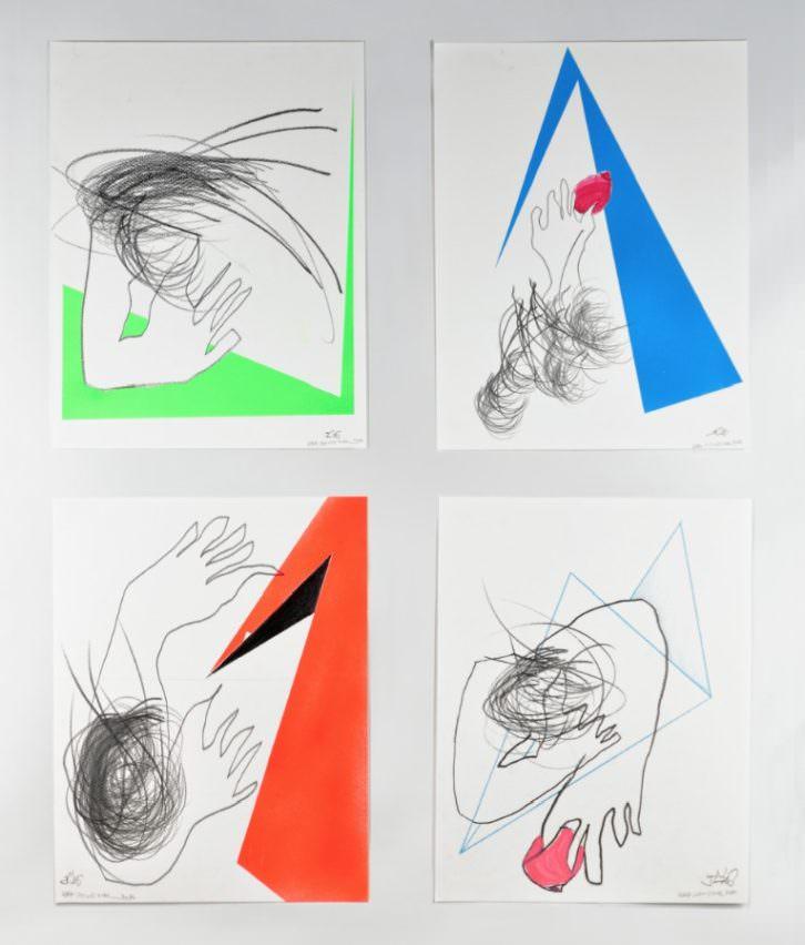 Cuatro piezas de 'Entre-dos', de Hélène Crécent y Rafa de Corral. Imagen cortesía de sus autores.