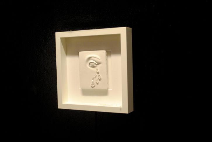 'Lacrima vitrum' una de las obras creadas por Carles Mondrià. Fotografía: María Ramis.