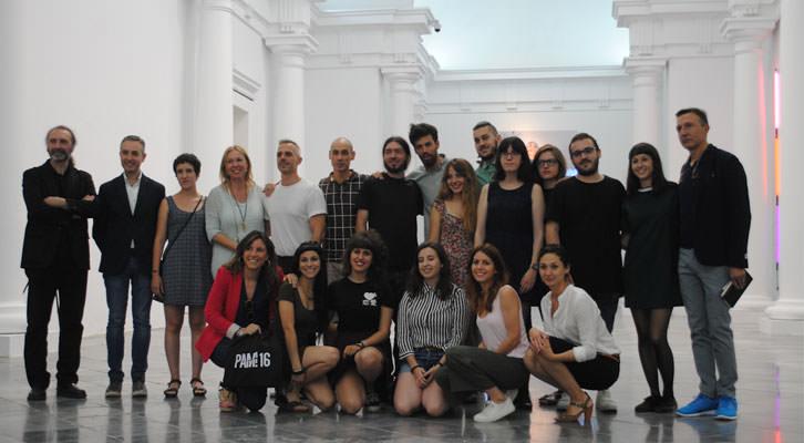 Aristas, equipo PAM!, María Victoria Vivancos, José Luis Cueto, José Luis Pérez Ponto y el comisario José Luis Clemente.