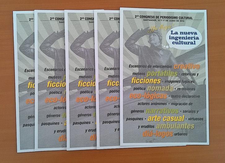 Carteles del II Congreso de Periodismo Cultural.