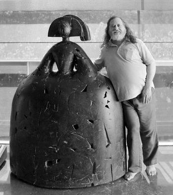 Stallman en la Universitàt Politècnica de València. Imagen cortesía UPV.