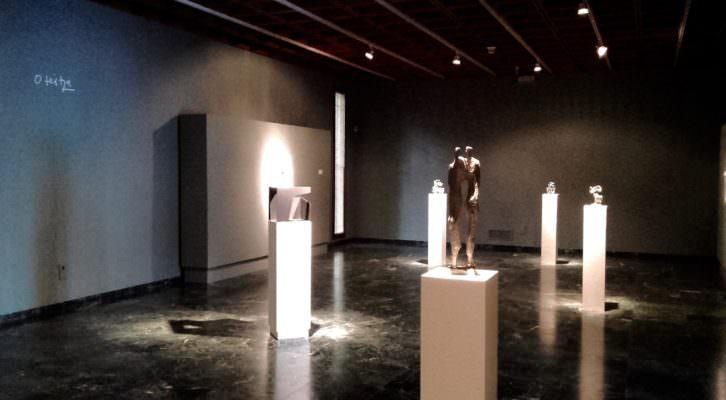 Imagen general de exposición de Jorge Oteiza en la Fundación Evaristo Valle de Gijón. Fotografía: Merche Medina.