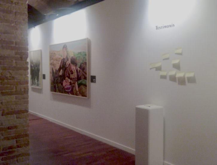 Parte final de la exposición donde se anima a dejar testimonio. Fotografía: María Ramis.