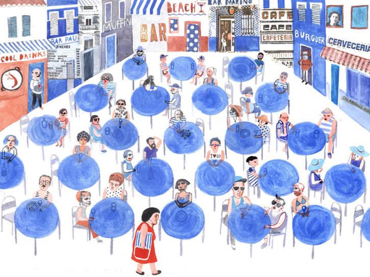 Ilustración de Ana Peñas Chumillas. Imagen cortesía de Catálogo Iberoamérica Ilustra.