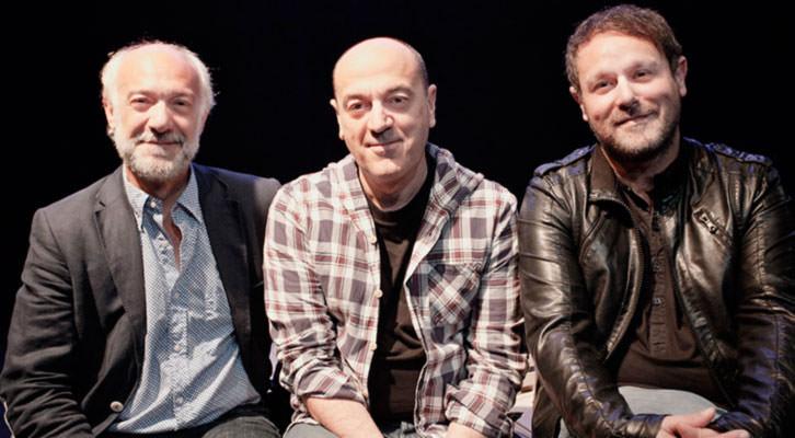 De izquierda a derecha, Juan Carlos Garés, Chema Cardeña y David Campillos, responsables de la Sala Russafa. Fotografía: Juan Terol.