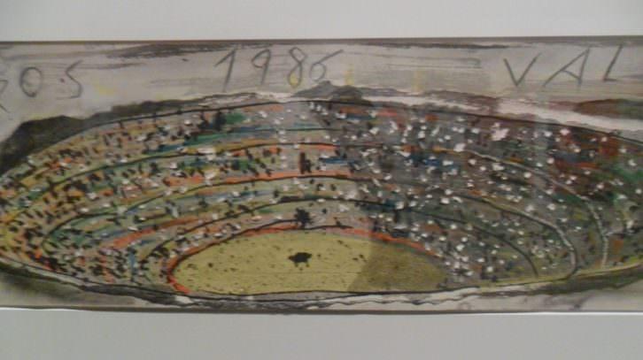 Obra de Miquel Barceló en 'Bous a la paret'. MuVIM.