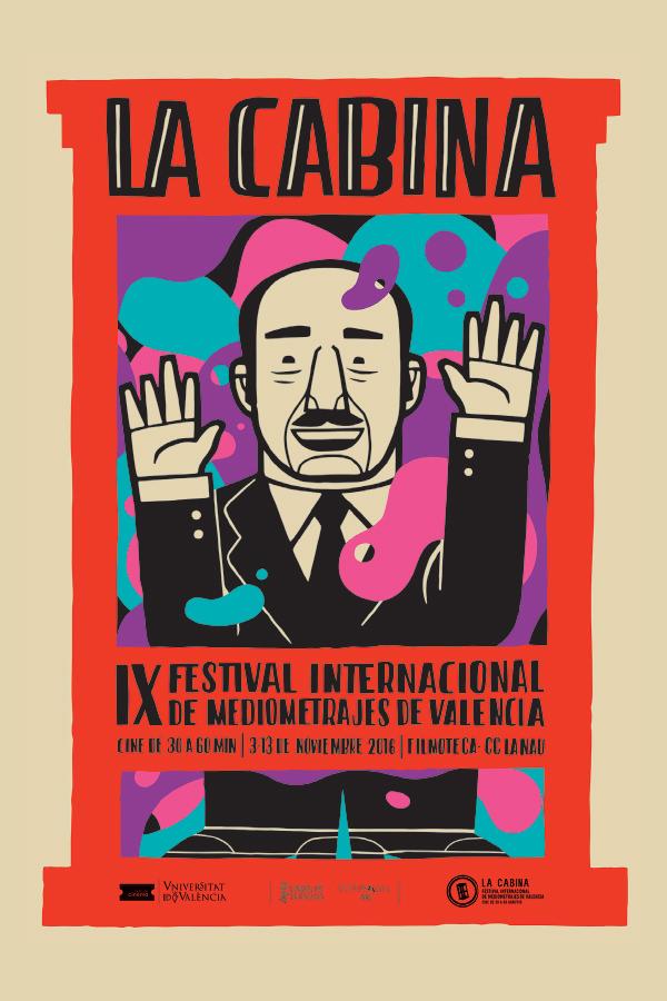 Cartel de La Cabina 2016, obra de Jorge Lawerta. Imagen cortesía del festival La Cabina.