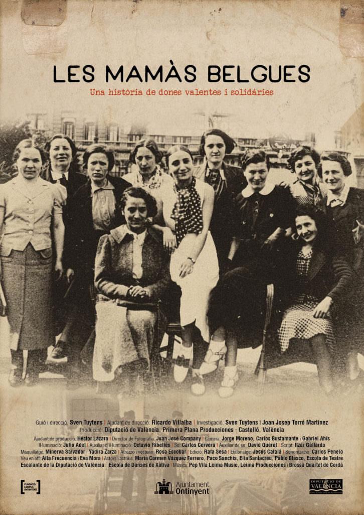 Cartel de 'Las Mamás Belgas', de Sven Tuytens. Imagen cortesía de la Diputación de Valencia.