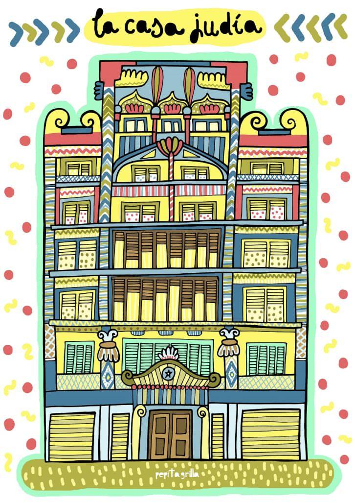 La Casa Judía, de Pepitagrilla. Imagen cortesía de Espai Rambleta.