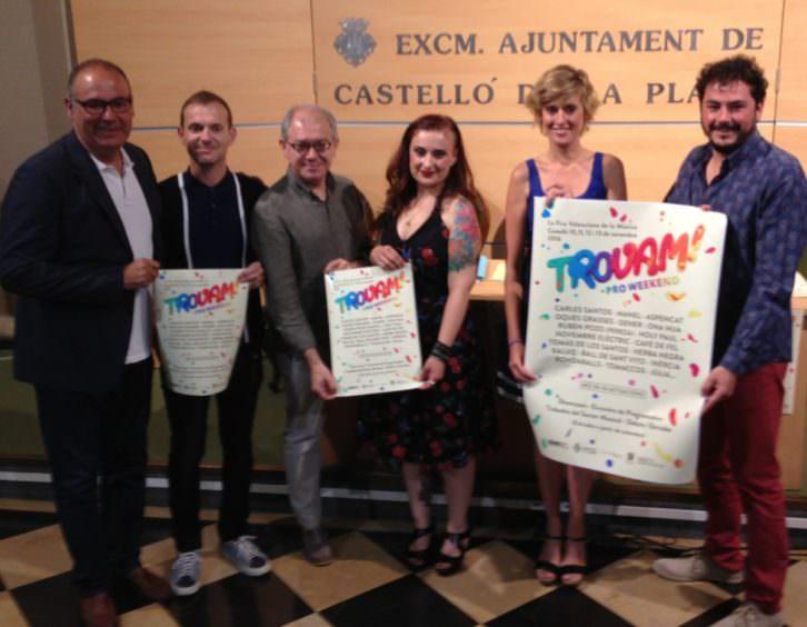 Representantes institucionales del festival Trovam!. Imagen cortesía de la organización.