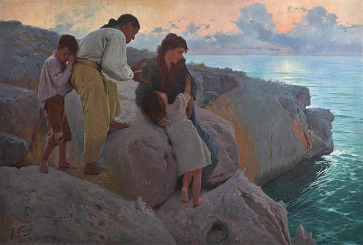 Y el mar siempre azul, de Antonio Fillol. Museo de Bellas Artes Gravina de Alicante.