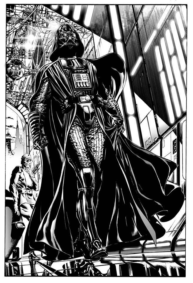 Ilustración de Darth Vader a cargo Claudio Castellini. Fotografía cortesía de Metrópoli.