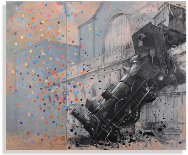 L'impresionismo est arrivé. Una de las obras de Artur Heras que se pueden ver en la muestra. Imagen cortesía de la galería.