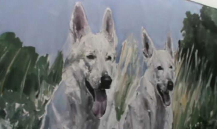 Obra de la feria ArteSantander. Imagen  extraída del video de Néstor Navarro.