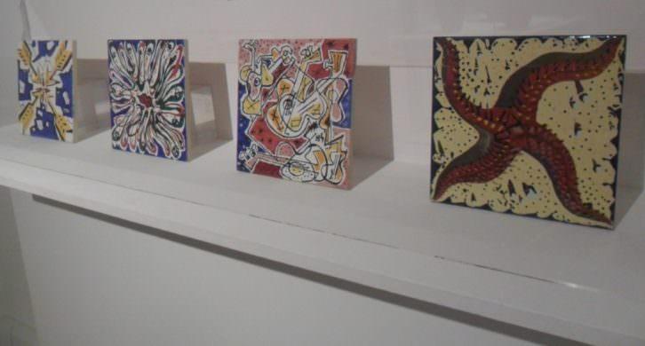 Serie de azulejos de Salvador Dalí. Museo Nacional de Cerámica González Martí.