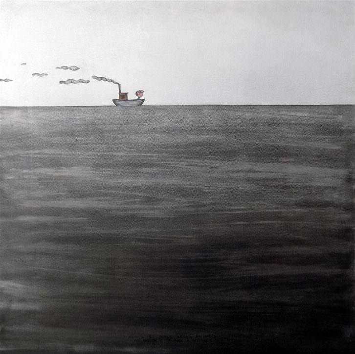 Obra de Moisés Yagües en la exposición 'Miradas cruzadas'. Sala Vista Alegre de Torrevieja.