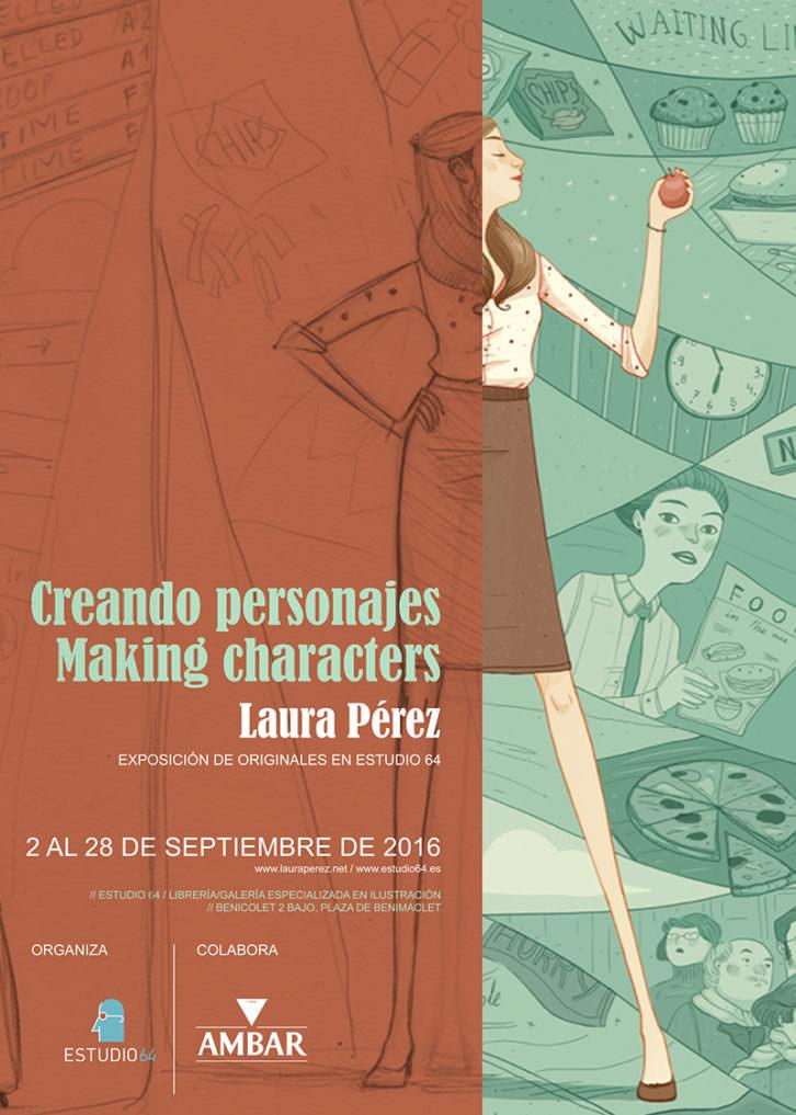 Cartel de la exposición de Laura Pérez. Imagen cortesía de Estudio 64.