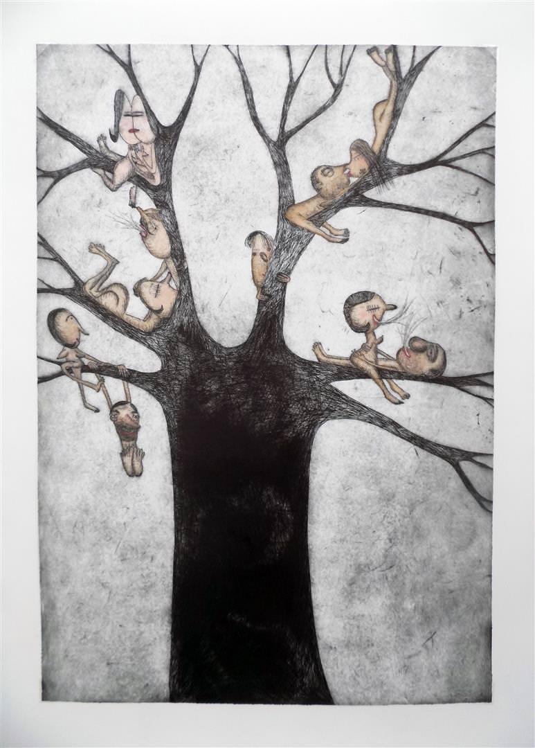 Obra de Moisés Yagües, en la exposición 'Miradas cruzadas'. Sala Vista Alegre de Torrevieja.