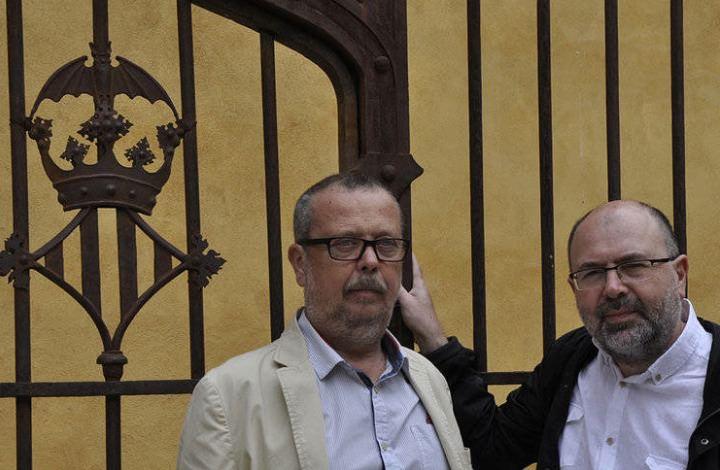 Tono Giménez (izda) y Tomás Gorria, autores de Valencia al detalle. Imagen cortesía de los autores.