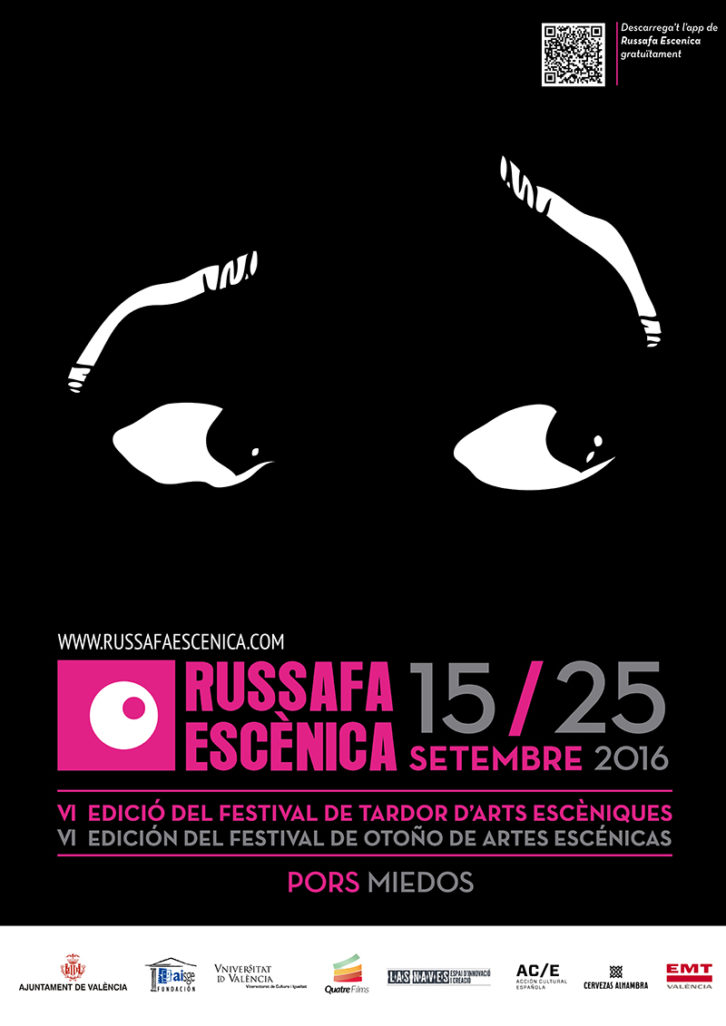 Cartel del festival Russafa Escènica 2016.