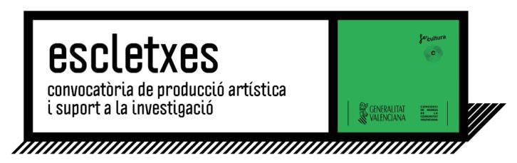 Logo de la convocatoria Escletxes. Imagen cortesía del Consorcio de Museos.