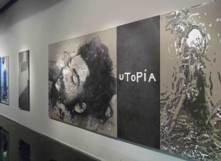 Vista de la exposición de Artur Heras en La Nau.