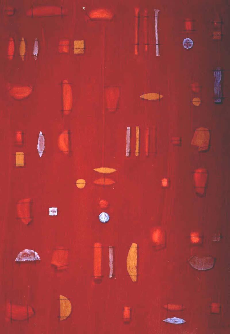 Obra de Carmen Calvo. Imagen cortesía de Galería Cuatro.