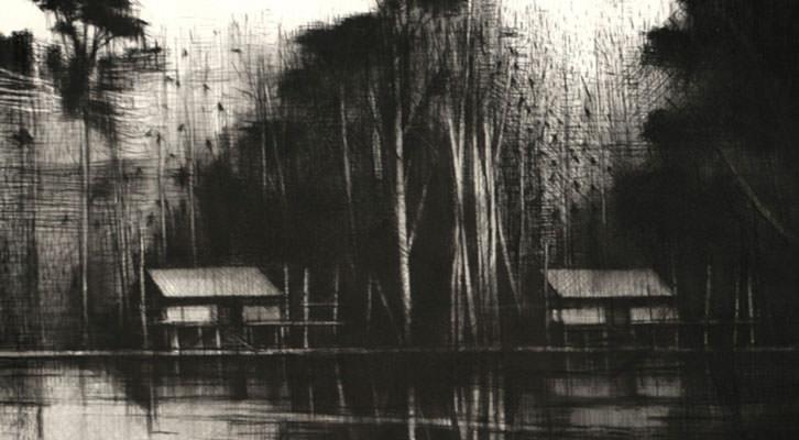 Obra de Calo Carratalá en la exposición 'Naturaleza extrrema'. Imagen cortesía de Alba Cabrera.