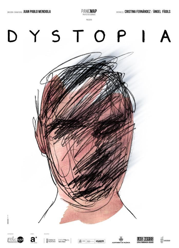 Cartel de Dystopia, de PanicMap. Imagen cortesía de Las Naves.