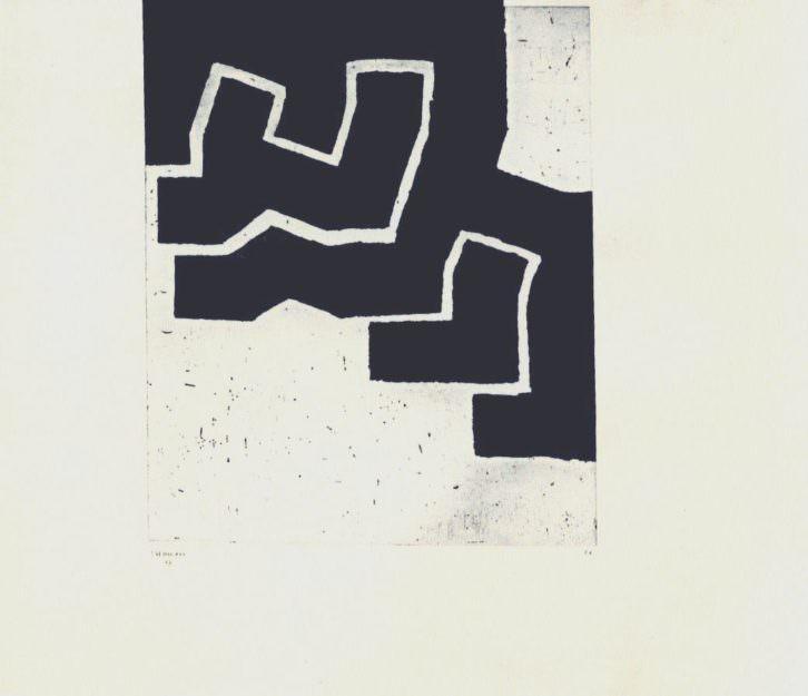 Obra de Eduardo Chillida. Imagen cortesía de Galería Cuatro.