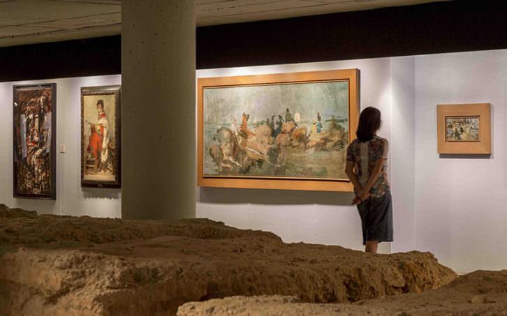 Vista de la exposición 'Pinazo y las vanguardias. Afinidades electivas'. Imagen cortesía del IVAM.