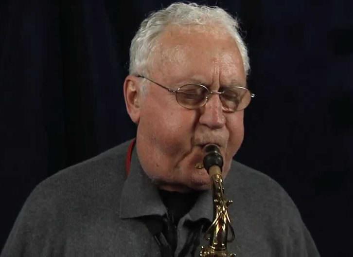 El saxo Lee Konitz. Imagen cortesía de Jimmy Glass.