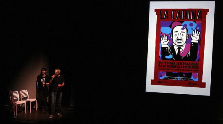 Momento de la presentación de La Cabina en Las Naves. Imagen cortesía del festival.