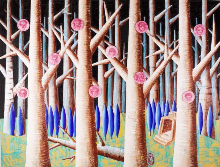 Imagen de la obra 'Malas influencias', de Vicente Talens, perteneciente a 'Desaparición'. Fotografía cortesía de la galería.