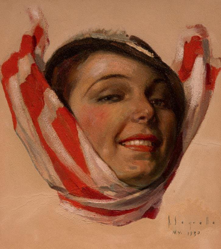 Miss Cummings, la modelo americana de José Segrelles. Imagen cortesía de Ignacio Estrela.