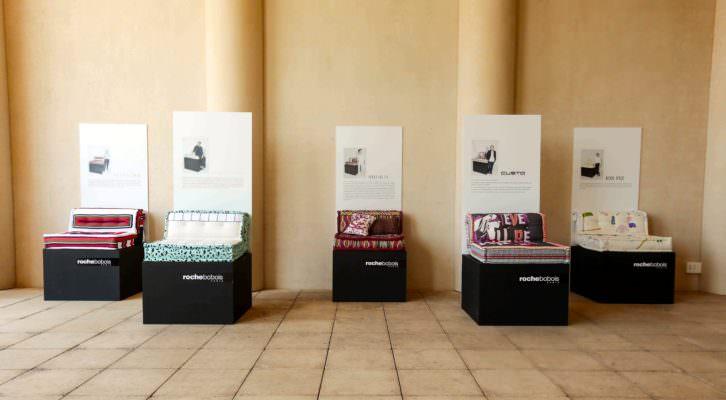 Una selección de 'Mah Jong' pertenecientes al proyecto 'Encuentros con la Moda Española', de Roche Bobois. Fotografía cortesía de la firma.