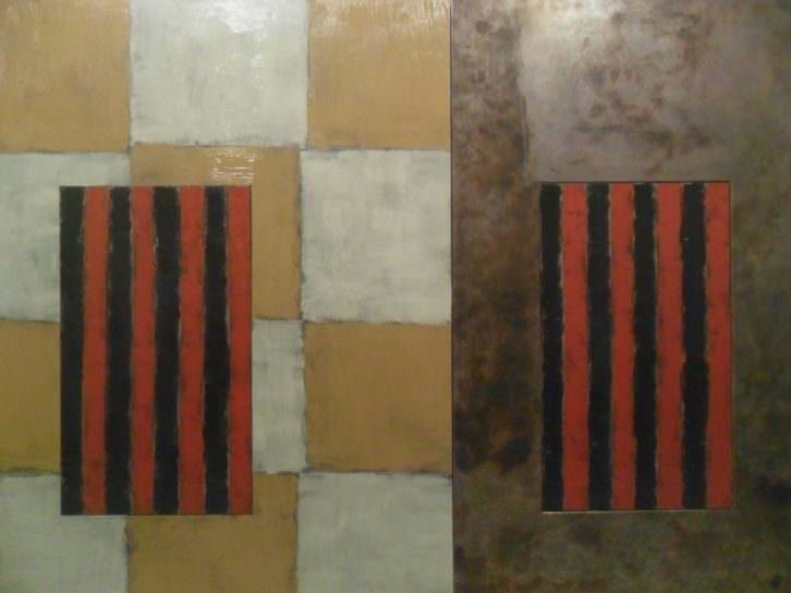 Obra de Sean Scully en el Centro Cultural Bancaja.