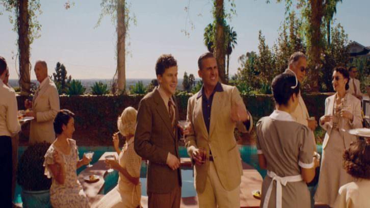 Jesse Eisenberg y Steve Carell durante un instante de 'Café Society', de Woody Allen.